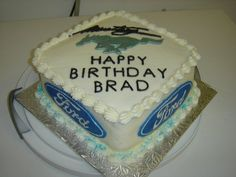 Mustang Pony Cake....Ford logo...Ky ♥