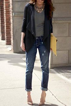 Slim Trench Coat with Waterfall Front