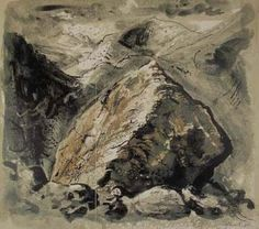 Stones and Bones V, Snowdonia - John Piper John Piper is one of the major figures in 20th century British art and is particularly associated with the neo-Romantic movement.