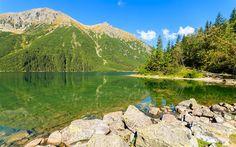 Télécharger fonds d'écran Les montagnes, en été, les Montagnes des Tatras, lac de montagne, la Pologne, les Carpates