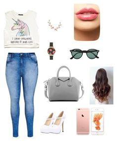 """""""Streetstyle"""" by fashion-coma ❤ liked on Polyvore featuring Forever 21, City Chic, Givenchy, Olivia Burton, Ray-Ban, Humble Chic and LASplash"""