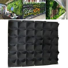 Extra water drips to planter below or to a gutter to recirculation. Screw Planter into the fasteners. Perfect for sprucing up your fence or deck with lush plants. 1x 36 Pocket Green Wall Planter. Vertical style with 36 Planting Pocket. | eBay!
