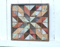 This classic wooden quilt is perfect for barn lovers like me!       Its completely handmade using hand harvested salvaged faded grey boards