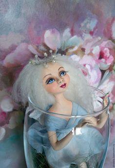 Купить Отпусти! - голубой, кукла ручной работы, кукла интерьерная, кукла в подарок, красивый подарок