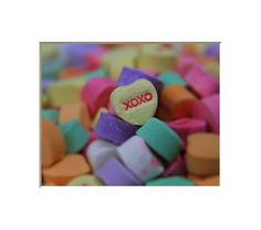 XOXO Candy Hearts Wall Decor Photograph. Valentine's by NJSimages