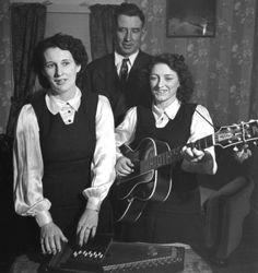 The Carter Family. Their bluegrass hymns..I hear them still today.