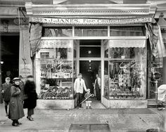 "Oh, yes please!! Move over kid! I wanna get in that store! Washington, D.C., circa 1924. ""Janes' candy store, Ninth Street."""