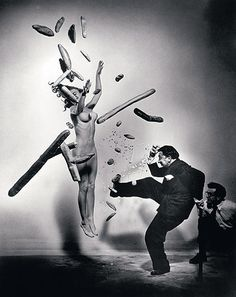 Salvador Dali and Women -Philippe Halsman
