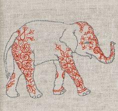 Elephant embroidery