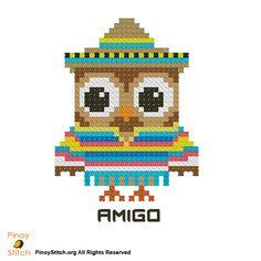 Hootie Amigo Mexican - PinoyStitch