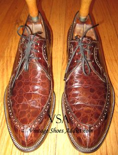 Crocodile Shoes & Alligator Mens Shoes from a Vintage Perspective Crocs Shoes, Men's Shoes, Shoes Men, Vintage Shoes, Vintage Men, Loafers, Oxfords, Crocodile, Me Too Shoes