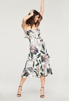 cc92d8d3c85c Tropics Print Petal Dress-The best of womens fashion,le plus tendance de la