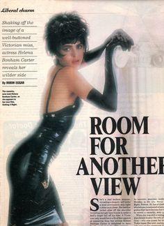 Helena Bonham carter in Kim West latex dress