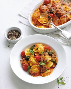 This quick and easy pasta bake recipe is made with fresh ravioli and classic Italian flavours.