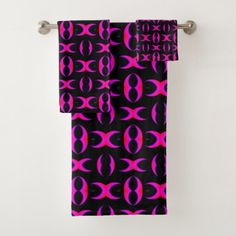 #Pink Tapestry Style Modern pattern abstract G5k5 Bath Towel Set - #customize