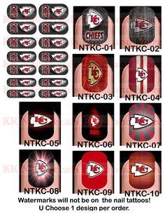 Nail Tattoo Decals - Kansas City Chiefs