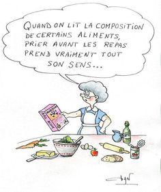 Prière avant le repas...  Et parce que rire fait du bien, une visite chez http://www.pinterest.com/catYmage/rire-ou-sourire-/