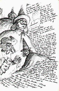 "Sketches for Alan Moore's ""V For Vendetta""."