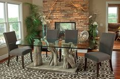 Modern Branch Dining Table by Woodland Creek Furniture in Custom Made Sizes.