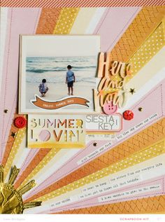 #papercraft #Scrapbook #layout.  Lexi Bridges
