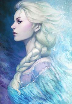 Elsa illustration by Artgerm