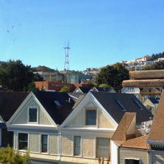 Lower Haight view of Sutro TV Tower