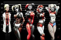 The evolution of Harley Quinn by epicwee - COSPLAY IS BAEEE! Tap the pin now to grab yourself some BAE Cosplay leggings and shirts! From super hero fitness leggings, super hero fitness shirts, and so much more that wil make you say YASSS! Bd Comics, Comics Girls, Marvel Dc Comics, O Joker, Harley Quinn Et Le Joker, Harly Quinn Comic, Harley Quinn Cosplay, Superman, Batman Art