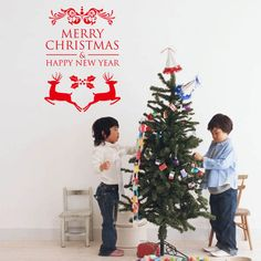 Merry Christmas Happy New Year Reindeer Wall Stickers Christian Room Home Vinyl Xmas Decals Festival Art Posters. Yesterday's price: US $1.88 (1.55 EUR). Today's price: US $1.50 (1.23 EUR). Discount: 20%.