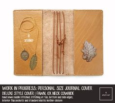 R.atelier Fawn Personal Size Leather Notebook Cover