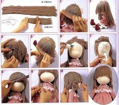 Mimin Dolls: Hair Wool - tutorial 3 of 5