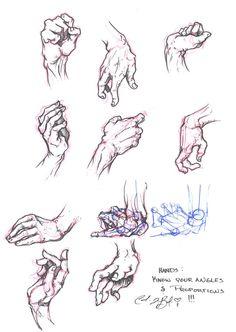 Hand Study: Visual by ~Sariel367 on deviantART https://www.facebook.com/CharacterDesignReferences