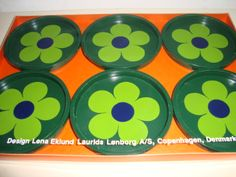Laurids Lønborg retro coasters from the 70s and designed by Lena Eklund. #laurids #loenborg #coasters #retro #70s #lena #eklund #kitchenware