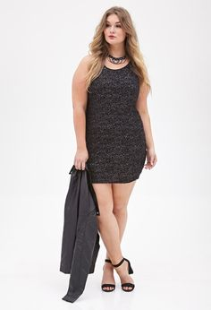 Sequined Textured Knit Dress | FOREVER21 PLUS | #f21plus