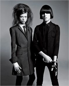 Rhys Webb (The Horrors) and model