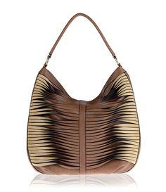 Large Faux Nappa Twist Hobo (MT507191) Sondra Roberts Clothing