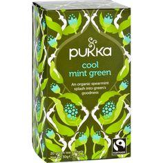 Pukka Herbal Teas Tea Organic Green Cool Mint 20 Bags Case Of 6