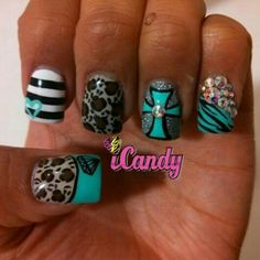 These would be way cute without the leopard and bling and I couldn't even do them lol