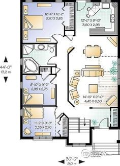 1st Level Simple 3 Bedroom Bungalow Home Plan With Open Floor Concept Ideal For