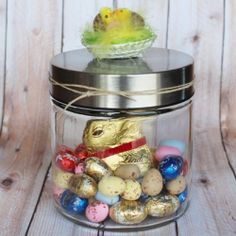 How to make an Easy (Simple) 'Easter in a Jar' Present - at the Last Minute!