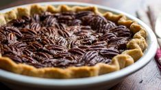 CHOCOLATE PECAN PIE NEW YORK TIMES- didnt find on pinterest originally but part of a larger group of recipes for Tgiving.  Fantastic- not too sweet and you can really taste the hints of bourbon.  And the crust will be a go-to!   (I did 8 tbl high fat butter, 2 of crisco)