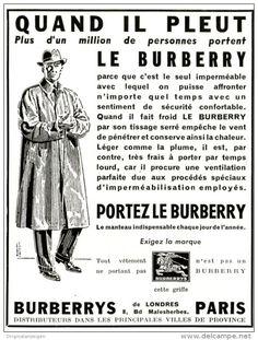 Original Anzeige Publicité 1955 En Français Le Burberry Ca