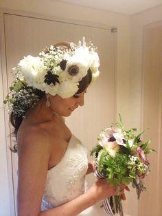 ティアラと生花の共存 の画像|VAMP Avenue【by VAMP Hair Make 】