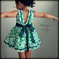 Special classic dress for baby toddler o by Moniquesthingsshop