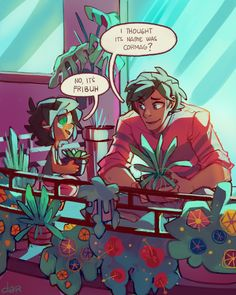 So i found this adorable thing last year by @allumetterouge skdhgdfgdg Mar'i names her plants and says goodnight to them how can i not