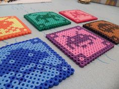 Hama Beads Space Invaders Coasters