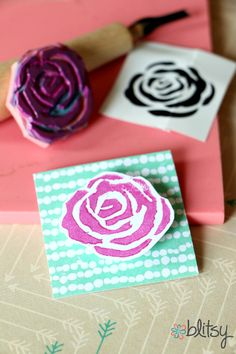 Making your own flower stamps isn't as hard as it looks. Find out how at Blitsy Crafts.