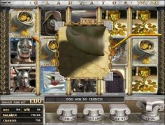 Play the 3D video slot game Gladiator for free at 1OnlineCasino.com