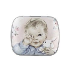 Sweet Vintage Baby Boy Baby Shower Candy Jelly Belly Candy Tins