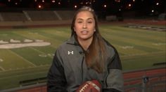 """Becca Longo, 18, is believed to have become the first female in history to earn a football scholarship with a top-tier college team when she signed a letter of intent Wednesday with Adams State University. Longo, a high school senior from Arizona, said she would tell young girls who have big dreams like her to """"do what you love"""" and ignore the negativity. """"If they want to play football, go out and play football."""