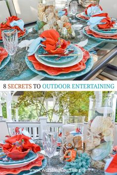 CLICK HERE to get 8 Secrets To Successful Outdoor Entertaining And Setting A Beautiful Tablescape #outdoorentertainingideas #outdoorentertainingtablescape #outdoorentertainingdecor #summertablescapes #summeroutdoorentertaining #coralandturquoise